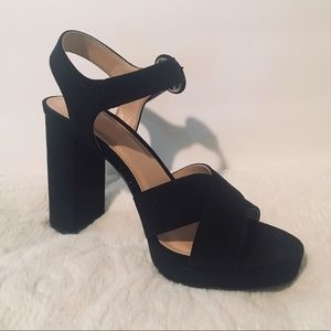 a new day Fiona black heeled sandals